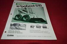 Bobcat 610 Skid Steer Loader Dealers Brochure DCPA2