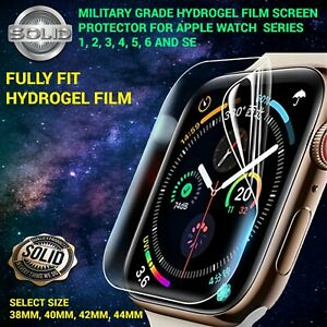 Screen Protector For Apple Watch Series 1 2 3 4 5 6 SE TPU FILM Cover - Clear