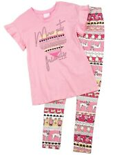 QUIMBY Girl's T-shirt and Doggies Print Leggings Set, Sizes 4-12