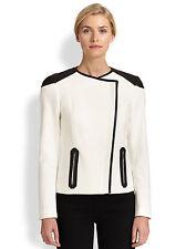 BOSS HUGO BOSS Kalisha Leather-Trim Jacket size 4 $595