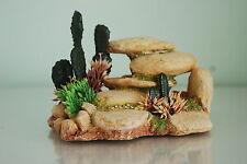 VIVARIUM détaillée blanc Pierre Rochers avec cactus Décorations 15cms