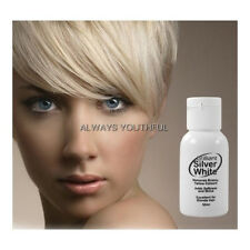 Brilliant Silver White Magic Hair Toner for Platinum Blonde Grey White Hair 50ml