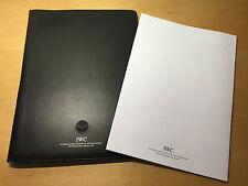 IWC Schaffhausen- Black Leather Case + Notebook - Portadocumenti + Quaderno