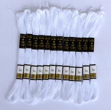 24 Color Blanco Anchor Punto De Cruz Hilos Bordados Algodón Hilo