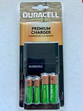 FREE SHIP- Duracell Premium Charger with 2 AA + 2 AAA Rechargeable Batteries