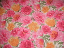 SHABBY COTTAGE PINK YELLOW FLORAL QUILTED PILLOW SHAM PARIS CHIC