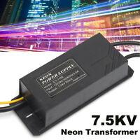 Neon Sign Transformer 7.KV 7500V 30mA Electronic Power Supply 120V AC 50Hz/60Hz