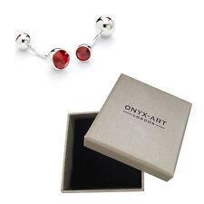 Mens Siam Crystal Fashion Cufflinks & Gift Box By Onyx Art