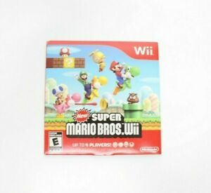 New Super Mario Bros. Wii  Wii, 2009 Cardboard Case And Game Only