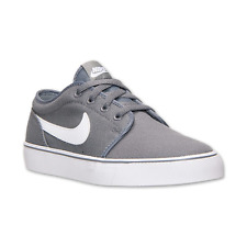NIKE Toki Mens LO 555272 Gray/White Canvas Skate Casual Shoes Size 7  NEW