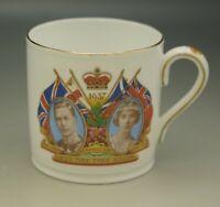 AYNSLEY ENGLAND ANTIQUE 1937 KING GEORGE VI CORONATION MUG