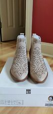 LADIES BIBI LOU ANKLE BOOTS PALE PINK SIZE 39 US 8.5