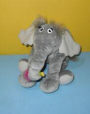"9"" Manhattan Toy Gray Horton Hears a Who Elephant Plush Dr. Seuss Bean Plush"