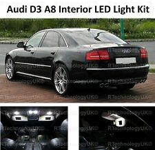 PREMIUM AUDI A8 S8 D3 2002-2010 LED FULL INTERIOR UPGRADE KIT SET XENON WHITE