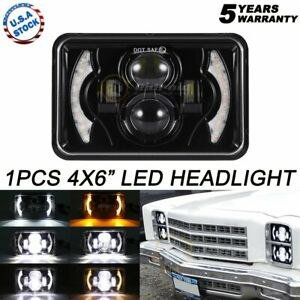 DOT 4x6 LED Headlight Projector Beam with DRL For Chevrolet S10 1995 1996 1997