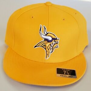 NEW! NFL Minnesota Vikings  Embroidered Fitted Cap 7 7/8