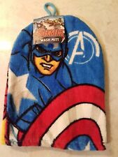 Avengers Iron Man Captain America 2 Images Wash Mitt Glove Face Cloth Gift