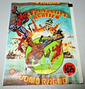 bustina orig. sigillata I FANTASTICI QUATTRO E L'UOMO RAGNO -ED. SOLARIS 1977