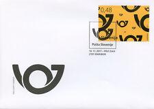 Slovenia 2017 FDC Postal Horn 1v Set Cover Postal Services Stamps