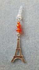 RED CRYSTAL EIFFEL TOWER CHARM FOR MOBILE PHONE TABLET IPAD IPHONE