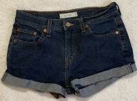 Levis 515 Booty Shorts  Womens Size 6  Denim Blue Jean Cuffed Stretch