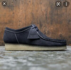 Clarks Wallabees Uk8 Ink Suede