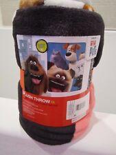 "The Secret Life of Pets Dachshund Buddy Plush Throw NEW 46x60"" SUPER SOFT!!"