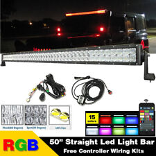 "50"" inch 5D RGB Led Light Bar Work Driving Fit For Truck SUV Jeep Ford Off road"
