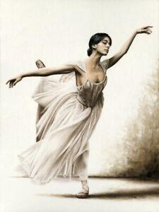 Demure Ballerina - Signed Fine Art Giclée Print Contemporary ballet oil painting