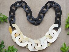 Natural Buffalo Horn Chunky Necklace Jewelry