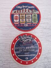 "Beer Pub Collectible COASTER ~ OSKAR BLUES Brewery ""Enter to Win A Cruise Suite"""