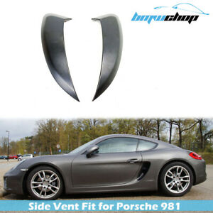 Fit For 13-16 Porsche 981 Boxster Cayman Side Air Intakes Ducts Vent Painted