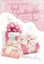 Special Great Granddaughter Presents & Butterfly Design Happy Birthday CarD