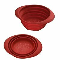 Kitchen Non Stick Collapsible Colander Silicone Food Vegetable Strainer Folding