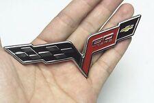 1Pcs Chevrolet Corvette C6 Z06 Grand Sport GM Metal Emblem 60 Years Crossed Flag