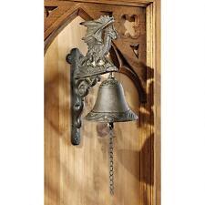 Gothic Dragon Cast Iron Bell Medieval Dragon Sculpture Door Bell
