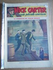 Nick Carter Il Grande poliziotto americano Anni 40 n°93 ed. NERBINI  [G369]
