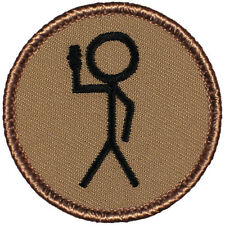 Cool Boy Scout Patch- ScoutSign Stickman Patrol! (#277)