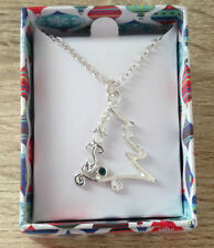 Silver Plated Simulated Crystal Costume Necklaces & Pendants