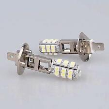 2 x H1 50/50 25 SMD LED ERROR FREE CANBUS LIGHT XENON WHITE BULBS SPOT FOG LIGHT
