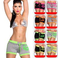 Damen Shorts kurze Hose Hot Pants Sport Fitness Hüfthose Stretch 32 34 36 38