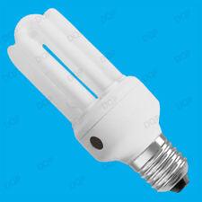 15W LOW ENERGY DUSK DAWN SENSOR SCREW LIGHT BULB E27 ES