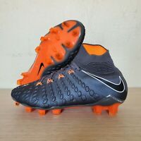 Nike Hypervenom Phantom 3 III Elite DF FG Grey Orange Cleats SZ 4.5 (AH7270-081)