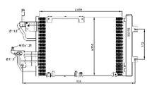 Condenseur de climatisation Opel / Vauxhall Astra H Astra GTC Zafira B