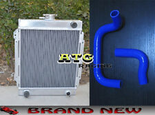 For DATSUN 1200 120Y B110 A12/T 1970-1976 3 ROW ALLOY RADIATOR + RED/BLUE HOSE