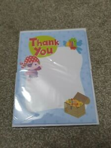 Pirate Thank You Notes With Envelopes BNIP