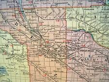 Rand Mcnally Commercial Atlas Saskatchewan Canada Map Page 1911 Railroad Lines