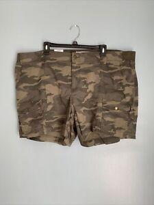 Sonoma Comfort Waist Cargo Shorts Size 22 NWT Camo Print