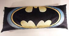4 FOOT Extra Large Batman Body Pillow Marvel 48 x 18 inch Black Yellow Bat Logo