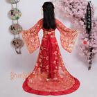 Women's Girl's Dress Hanfu Coat One-piece Dress Belt Princess Trailing Skirts
